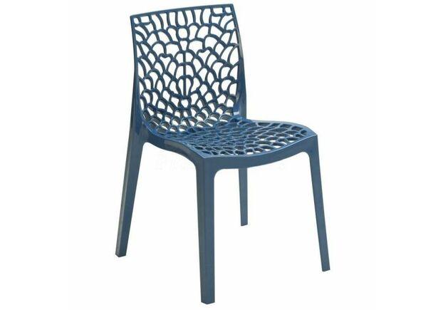 Пластиковый стул GRUVYER BLUE (Грувер Синий) - Фото №1