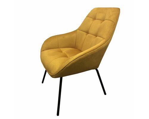 Кресло-лаунж MORGAN Морган  желтый карри - Фото №1