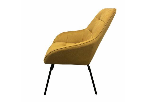 Кресло-лаунж MORGAN Морган  желтый карри - Фото №2