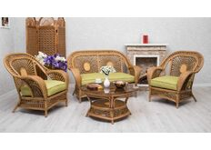 Фото Комплект мебели CRUZO Ацтека натуральный ротанг светло коричневый d00282