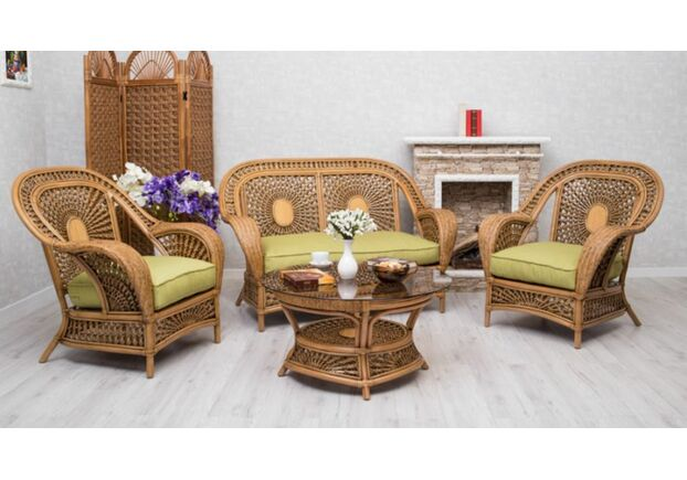 Комплект мебели CRUZO Ацтека натуральный ротанг светло коричневый  - Фото №1