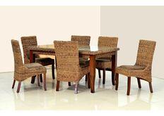 стол и стулья из натурального ротанга