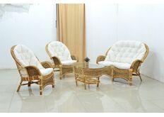 фото Комплект мебели Копакабана из натурального ротанга белый