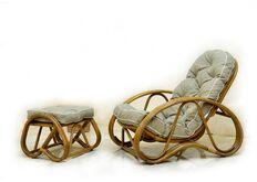 Кресло с Пуфом CRUZO Set натуральный ротанг