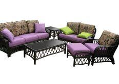 Ливинг комплект Феофания  Премиум: Софа-3, софа-2, кресло, пуф, коф.стол, прист.столик