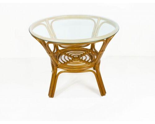 Обеденный стол Келек натуральный ротанг светло-коричневый - Фото №1