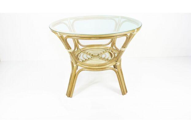 Обеденный стол Келек натуральный ротанг в натуральном цвете - Фото №1