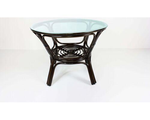 Обеденный стол Келек натуральный ротанг темно-кричневый - Фото №1