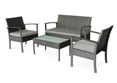 Фото Комплект мебели для улицы CRUZO Корсика искусственный ротанг черный d0021