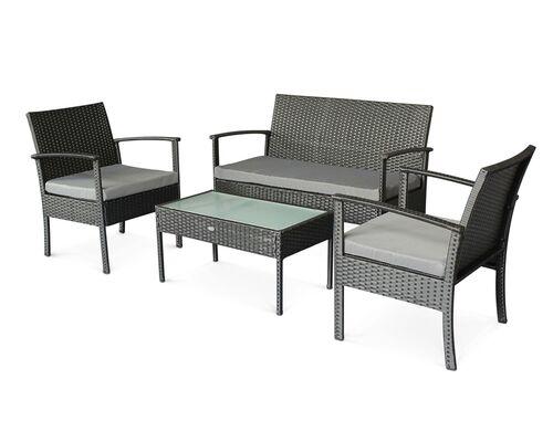 Комплект мебели для улицы CRUZO Корсика искусственный ротанг черный  - Фото №1