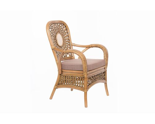 Кресло CRUZO Ацтека натуральный ротанг светло коричневый  - Фото №1