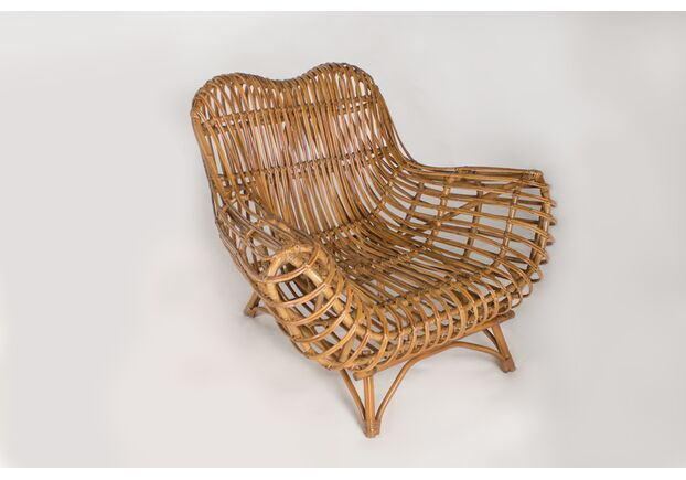 Кресло CRUZO Мадонна натуральный ротанг медовый kr0002 - Фото №1