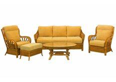 Фото Комплект плетеной мягкой мебели Аскания из натурального ротанга со столиком