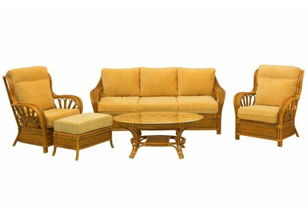 Комплект плетеной  мебели Аскания из натурального ротанга со столиком - Фото №1