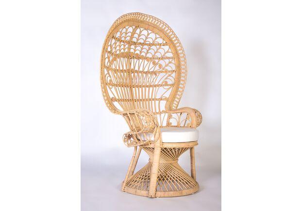 Кресло Павлин из натурального ротанга светло-медовый - Фото №2