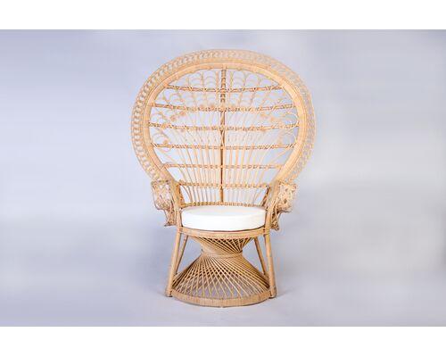 Кресло Павлин из натурального ротанга светло-медовый - Фото №1