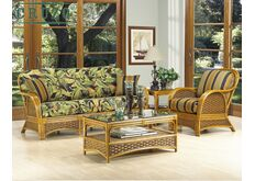 фото Комплект мебели Пеликан из натурального ротанга коричневый