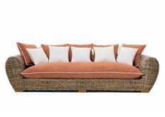 Фото Плетеный диван Пеллегрино из натурального ротанга