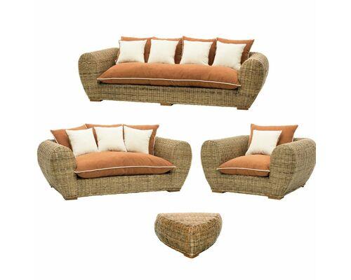Комплект мебели CRUZO Пеллегрино натуральный ротанг  - Фото №1