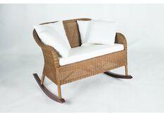 Кресло-качалка  для двоих Рокин Лавсит натуральный ротанг медовый