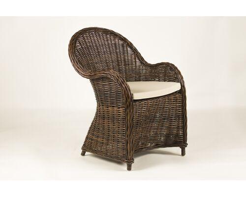 Кресло CRUZO Сейшелла натуральный ротанг коричневый  - Фото №1