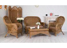 Фото Комплект плетеной мебели Виктория из натурального ротанга
