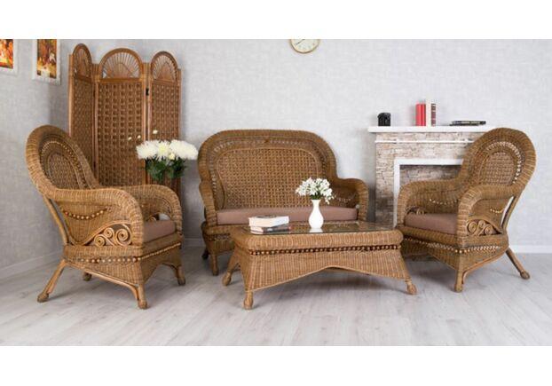 Комплект плетеной мебели Виктория из натурального ротанга Cruzo - Фото №1