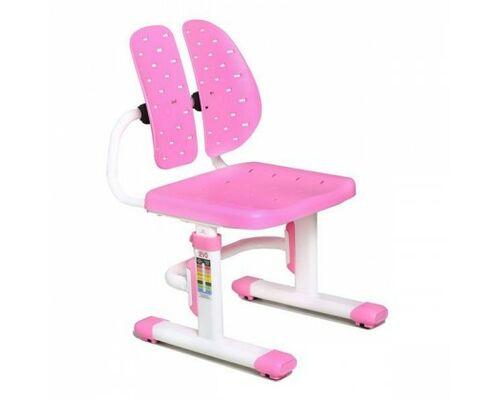 Стул Evo-kids EVO-309 PN белый металл/сиденье розовое - Фото №1