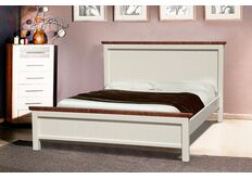 Двухспальная кровать Беатрис 160х200 ваниль - темный орех