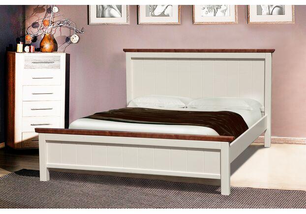 Двухспальная кровать Беатрис 160х200 см ваниль - темный орех - Фото №1