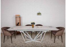 Стол обеденный  керамика белый