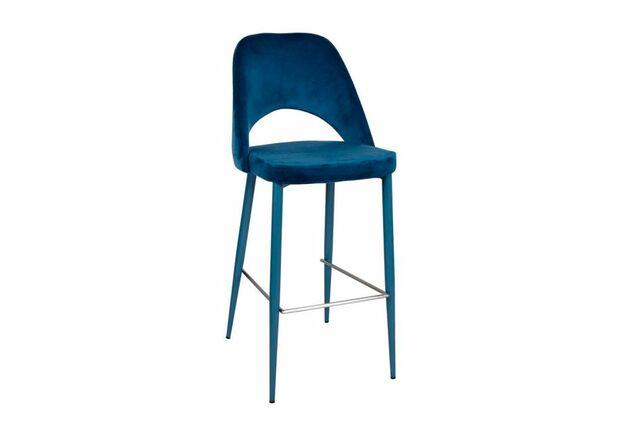 Стул барный INNSBRUCK (48*60*94/75 см, текстиль) синий - Фото №1