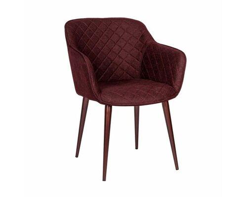 Кресло BAVARIA (58*65*80 cm текстиль) бургунди - Фото №1