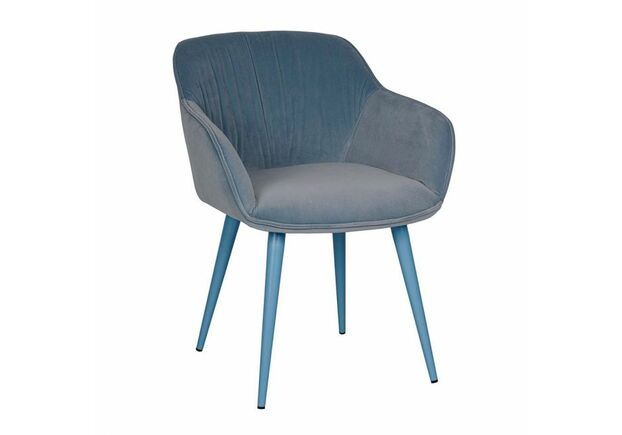 Кресло CARINTHIA (60*63*77,5 cm текстиль) голубой - Фото №1
