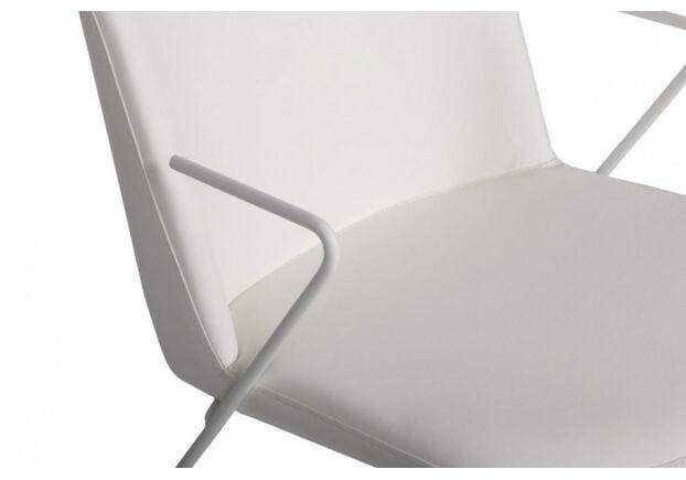 Стул CORSICA (49*62*80 см текстиль) с железными подлокотниками, белый - Фото №2