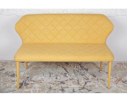 Кресло - банкетка VALENCIA (130*59*85 cm - текстиль) желтая - Фото №1