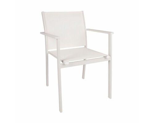 Стул PANAMA (57*59.5*86 cm alum) белый - Фото №1