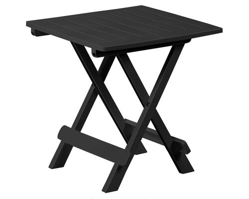 Стол TEVERE раскладной 79x72x70 антрацит - Фото №1