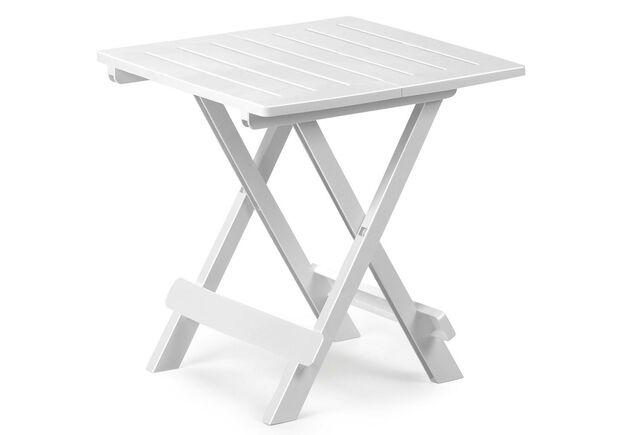 Столик ADIGE раскладной 44x44x50 белый - Фото №1