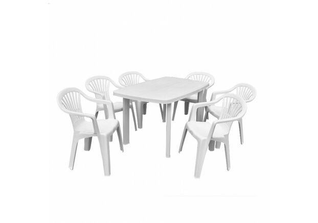 Набор для сада стол Faro+6 кресел Altea белый - Фото №1