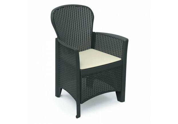 Кресло FOLIA антрацит с подушкой - Фото №1