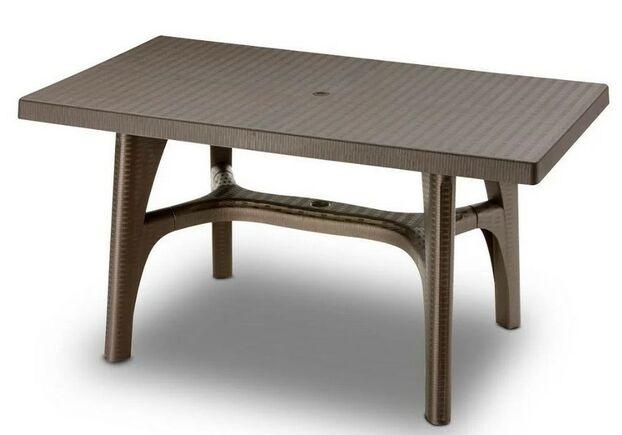 Стол INTRECCIATO 140x80 бронза - Фото №1