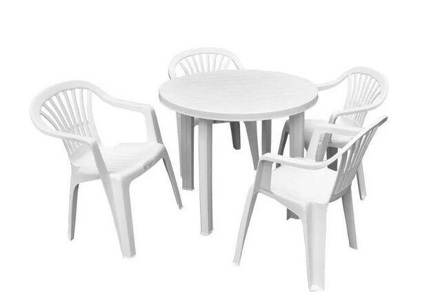 Набор для сада стол Tondo+4 кресла Altea белый - Фото №1