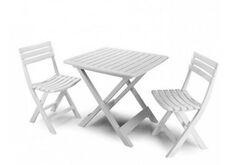 фото Набор CAMPING Стол Tevere+2 стула Birki белый