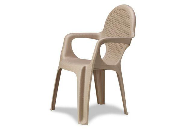 Кресло Intrecciata серо-бежевое - Фото №1