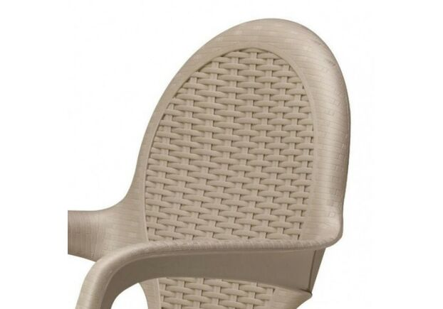Кресло Intrecciata серо-бежевое - Фото №2