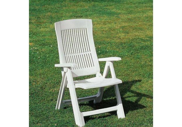 Кресло TAMPA раскладное белое - Фото №2