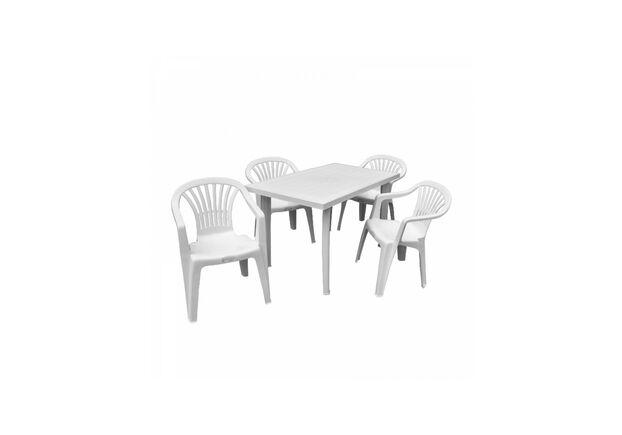 Набор для сада Стол Fiocco+4 кресла Altea белый - Фото №1