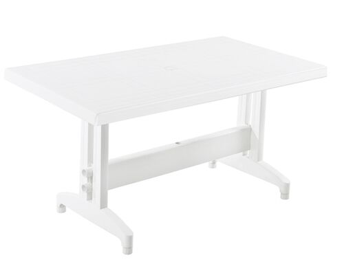 Стол для сада Престиж 140*80 см белый 01 - Фото №1