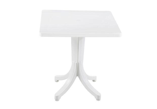 Стол для сада квадратный Фавори 70*70 см белый 01 - Фото №1